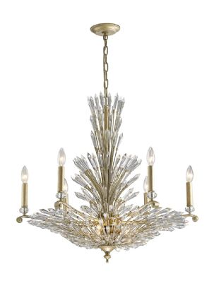 Diyas Fay 9 light gold/ silver Chandelier