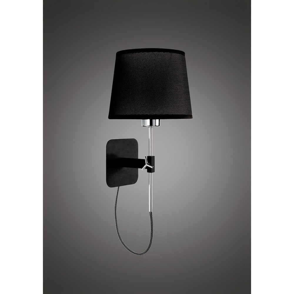 Habana Mantra 1 Light Wall Lamp with Black or White