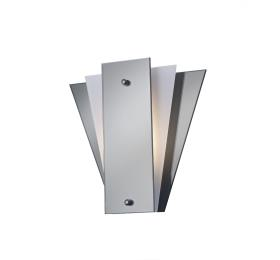 Deco Atlantis Glass Wall Lamp 1 Light, with three color options smoked grey/ white, mirrored/black, mirrored/frosted